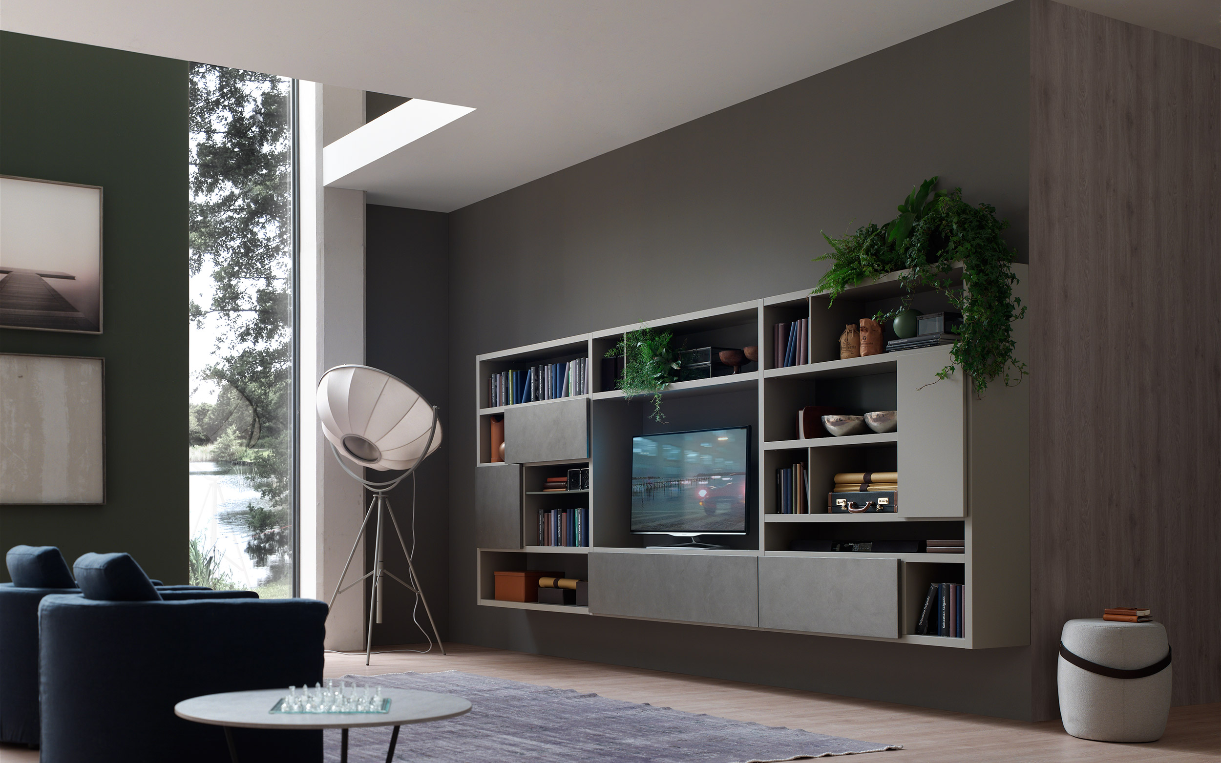 soggiorno cemento