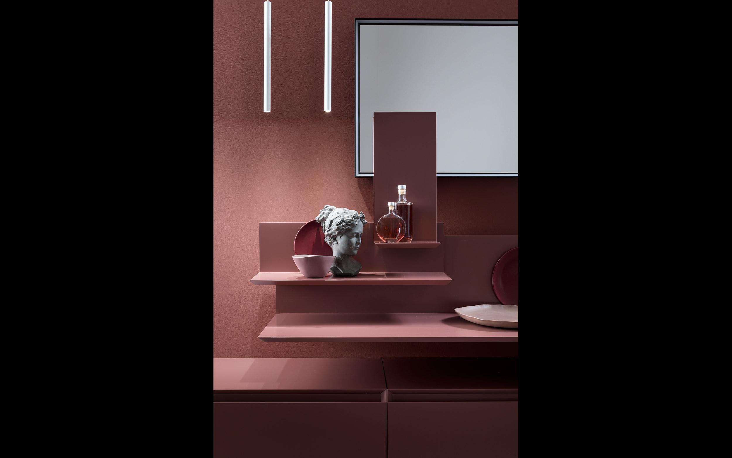 bagno rosso design