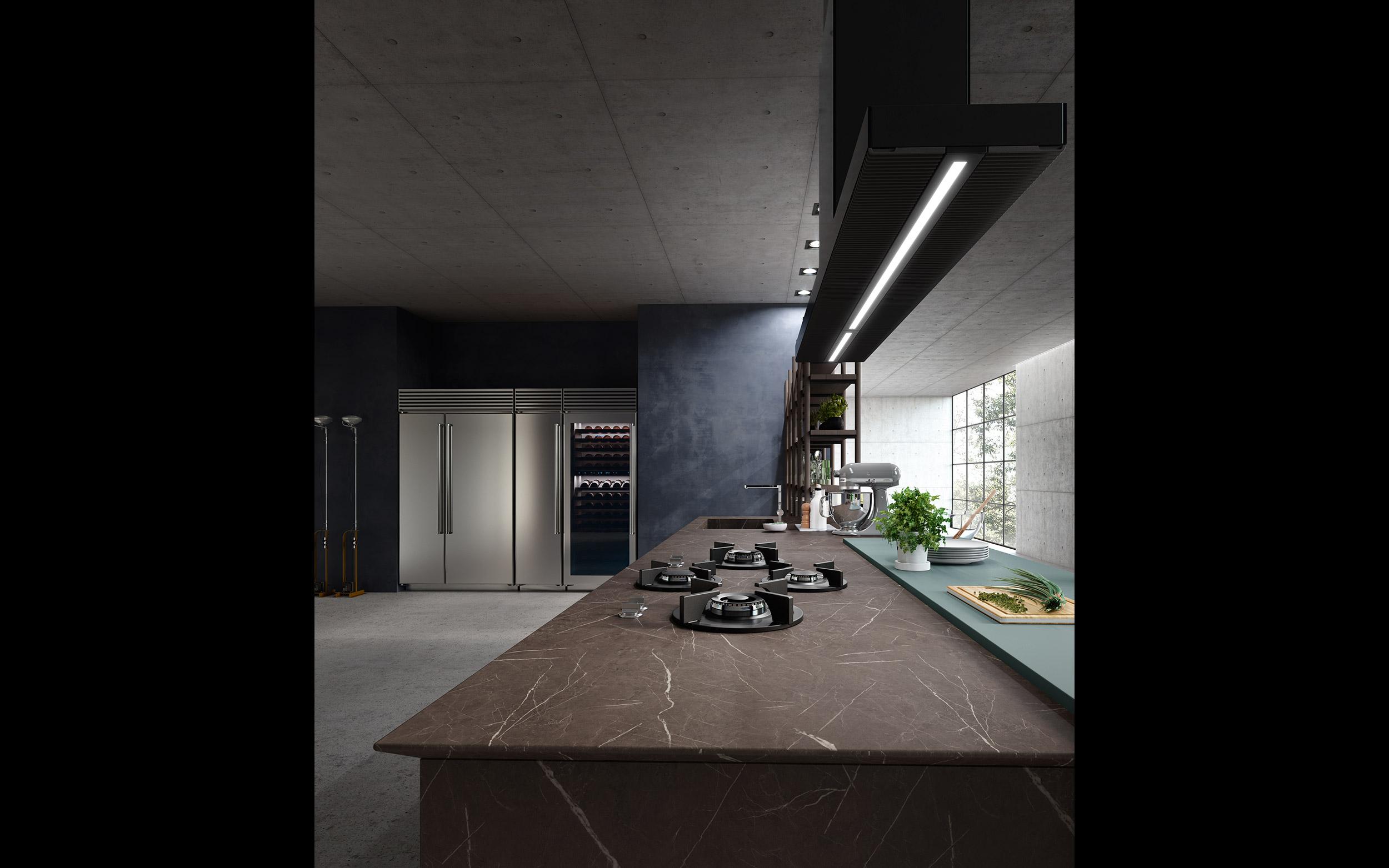 cucina di marmo