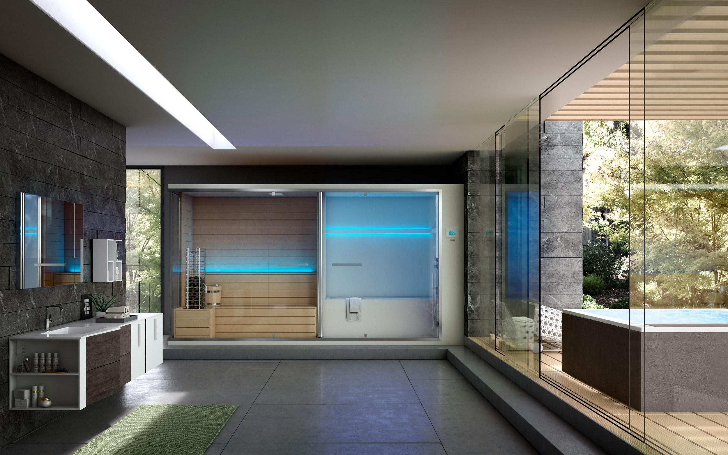 sauna legno