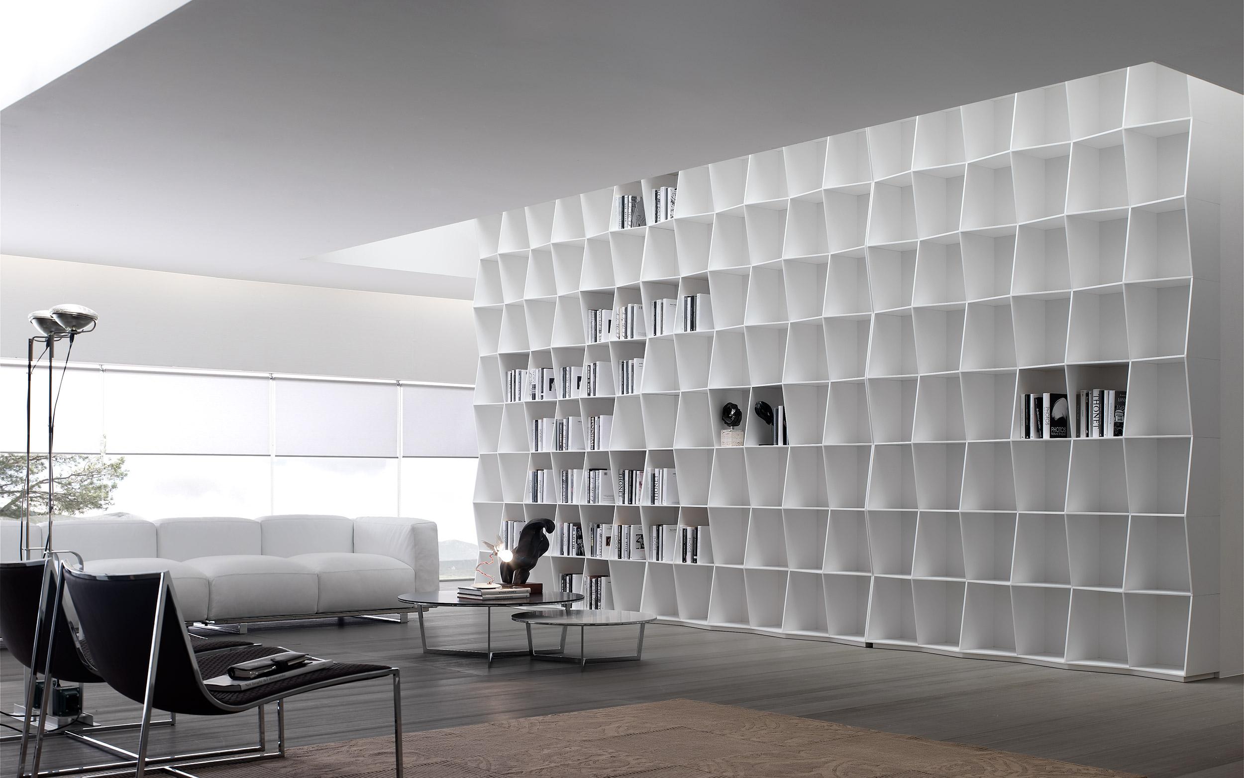 libreria divano